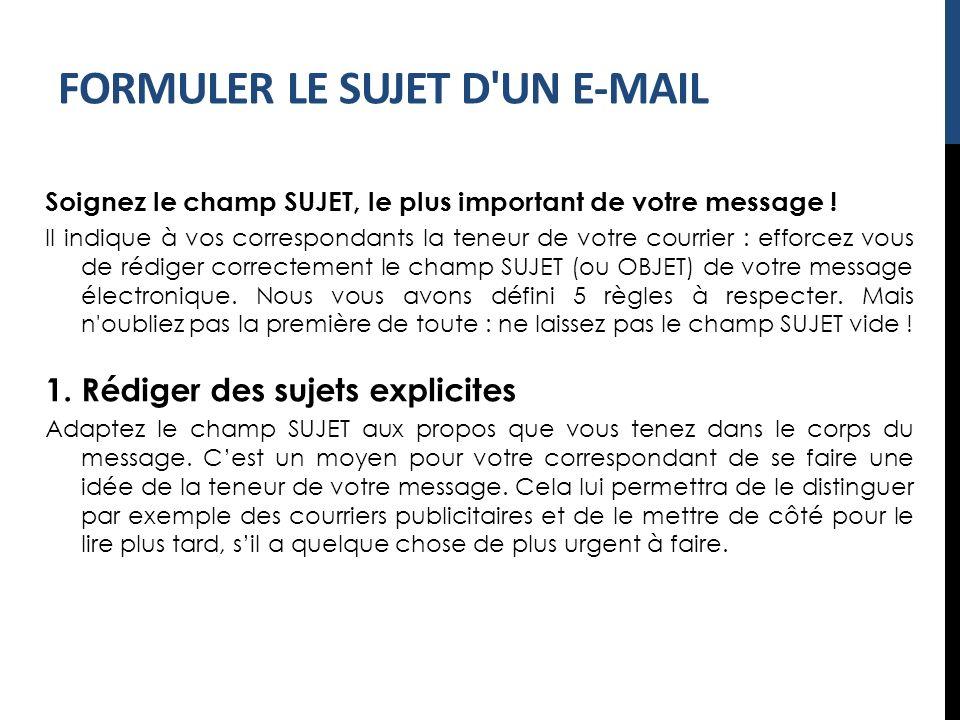 Rediger Un Mail 3 Le Sujet D Un Mail Ppt Video Online Telecharger