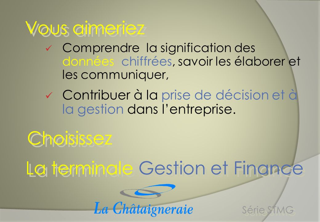 La terminale Gestion et Finance