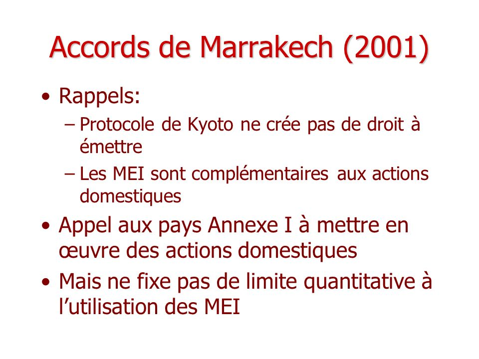 Accords de Marrakech (2001)