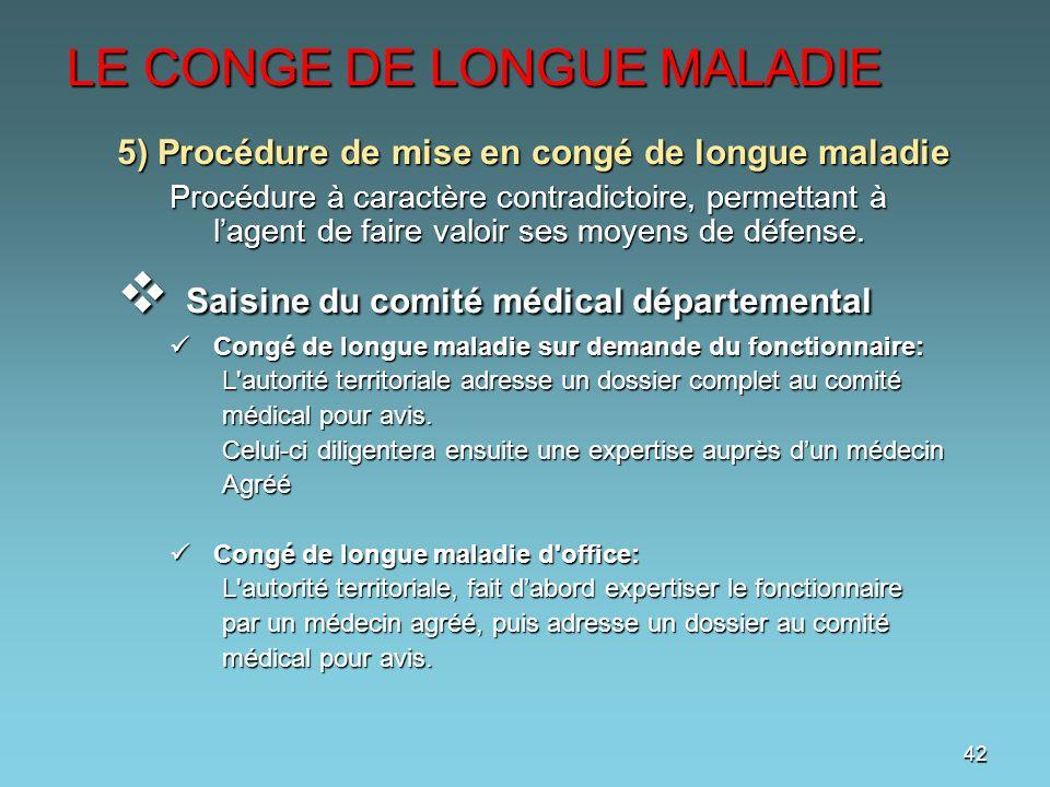 congé grave maladie agent contractuel