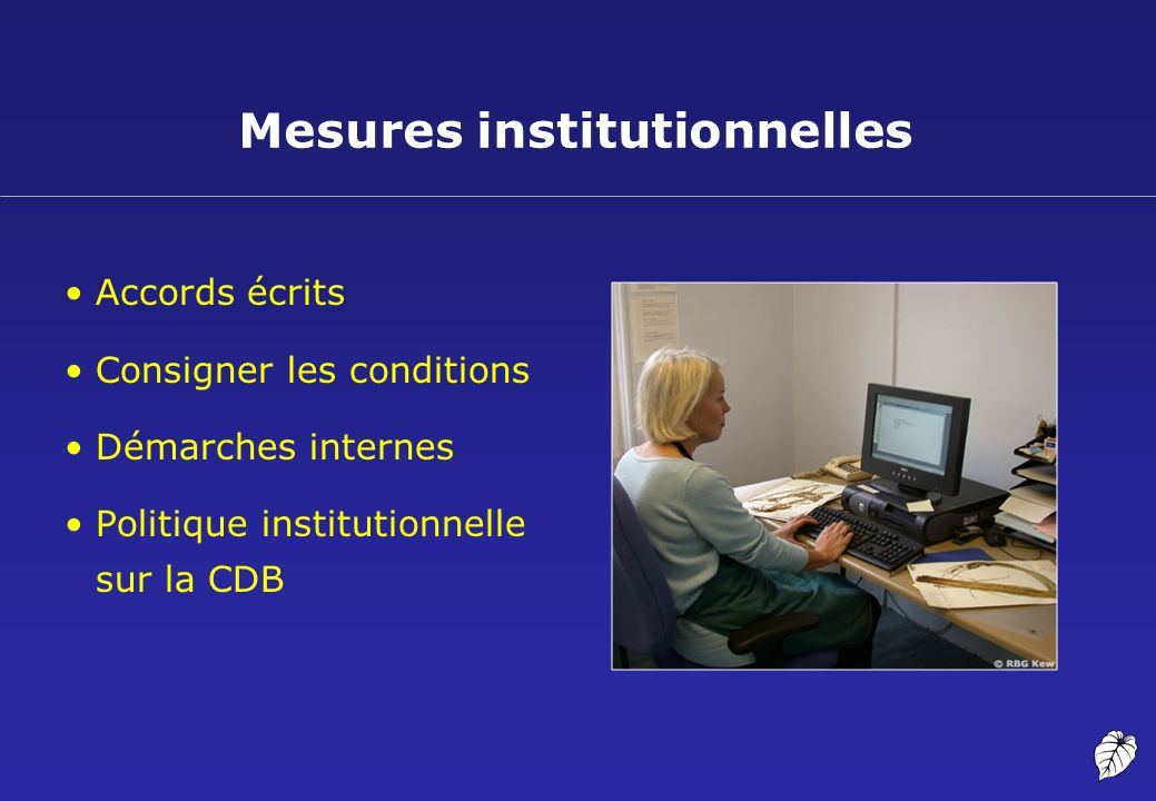 Mesures institutionnelles