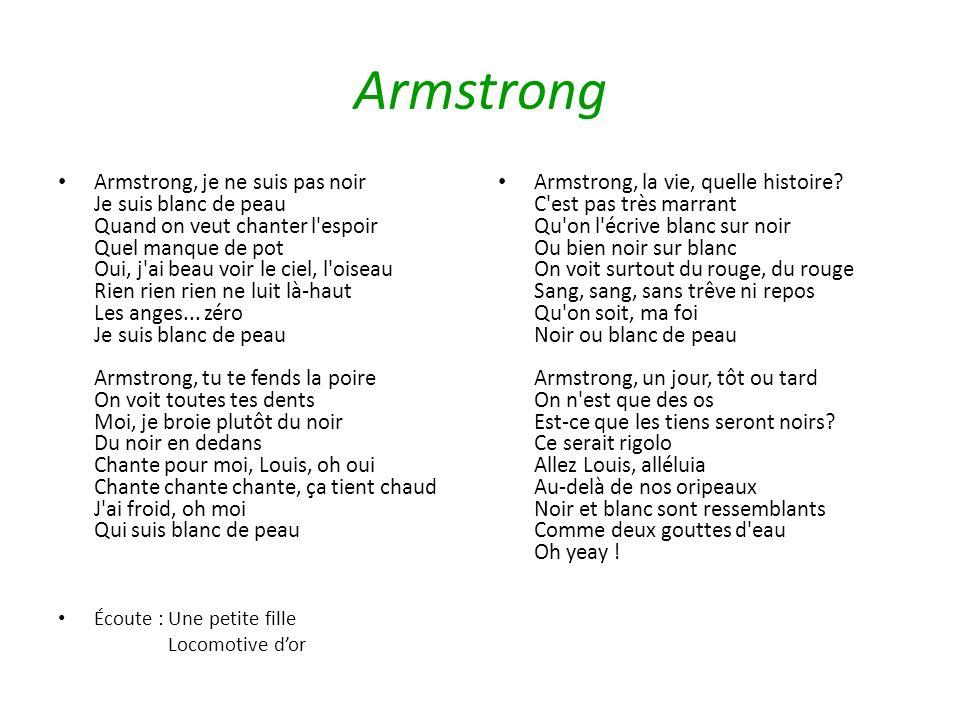 parole chanson armstrong