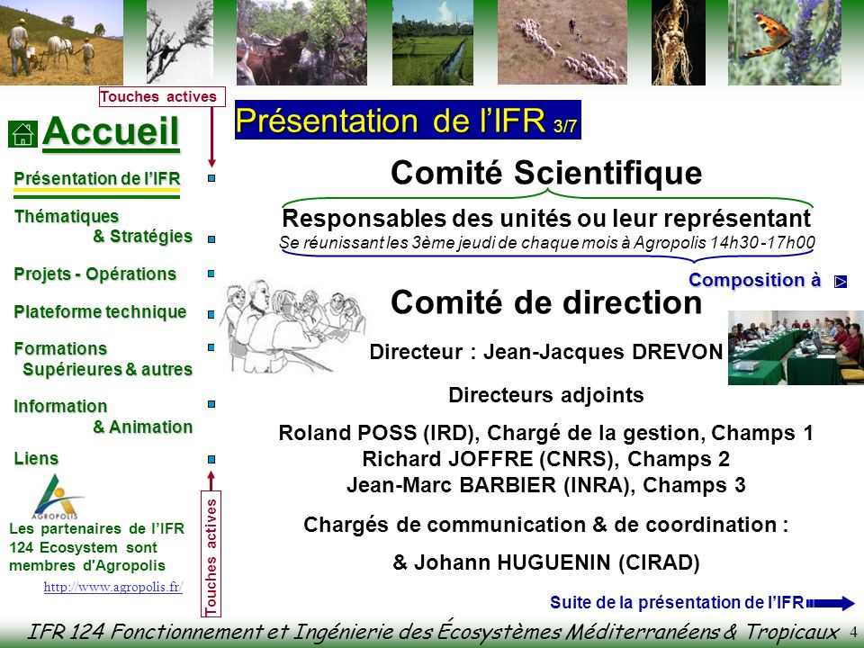 Comité Scientifique Comité de direction