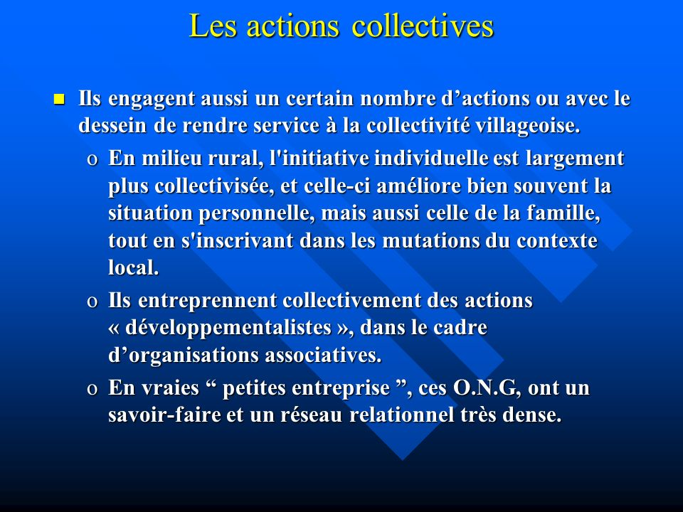 Les actions collectives