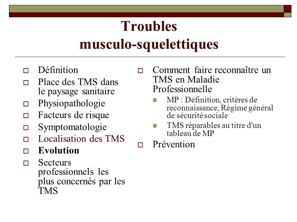 Troubles Musculo Squelettiques Ppt Video Online Telecharger