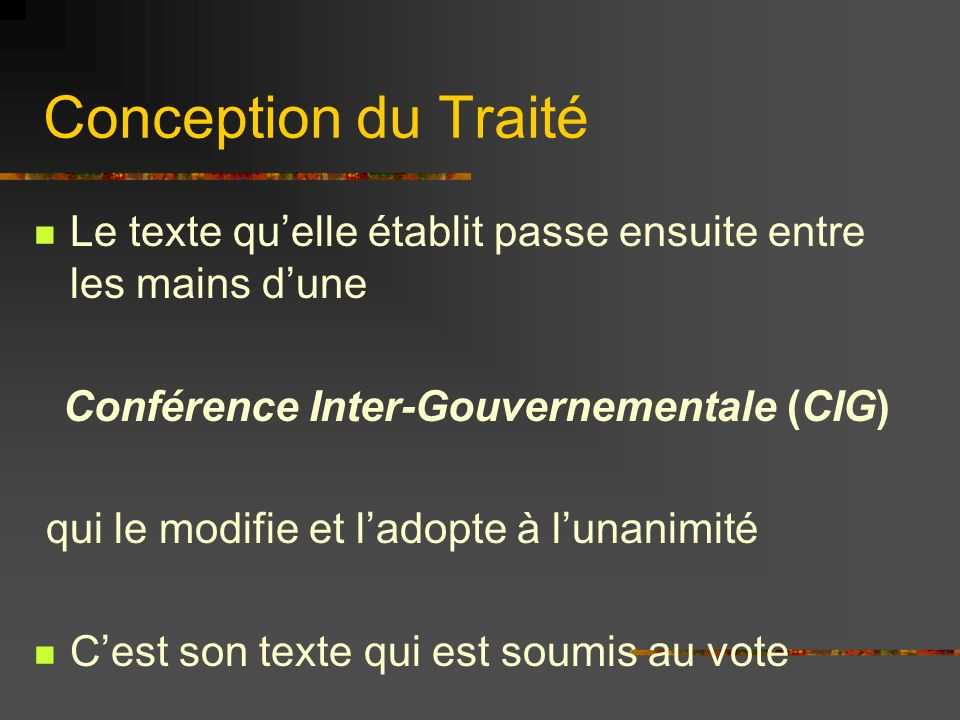 Conférence Inter-Gouvernementale (CIG)