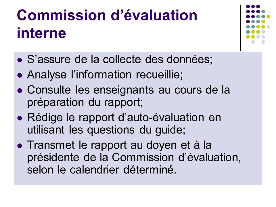 Commission d'évaluation interne