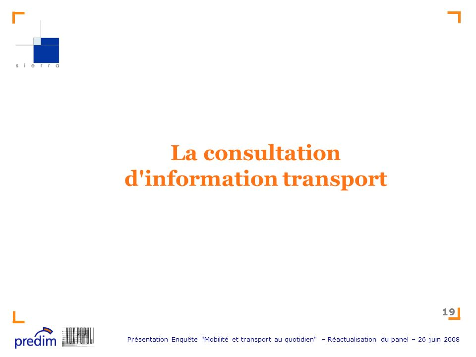 La consultation d information transport