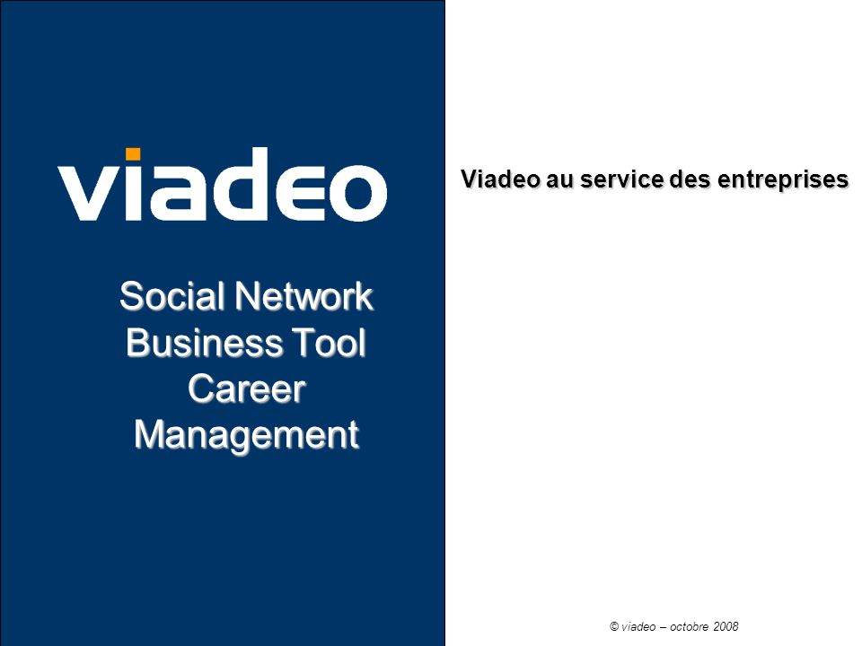Social Network Business Tool Career Management