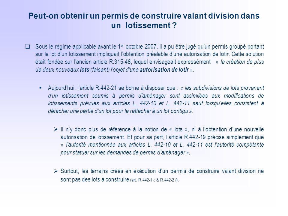 Le Permis De Construire Valant Division Ppt Telecharger
