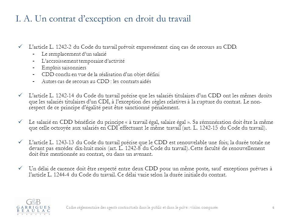 Code Du Travail Renouvellement Cdd