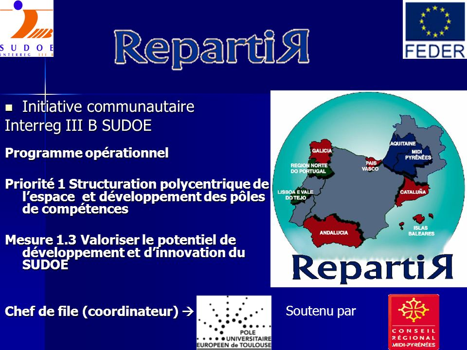 Initiative communautaire Interreg III B SUDOE