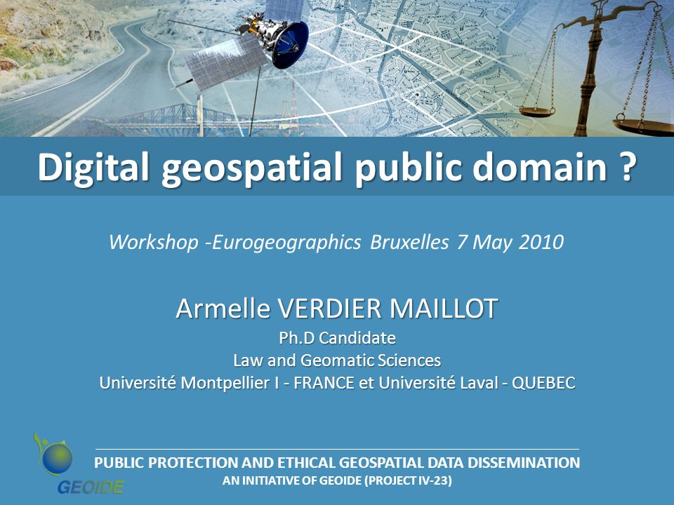 Digital geospatial public domain