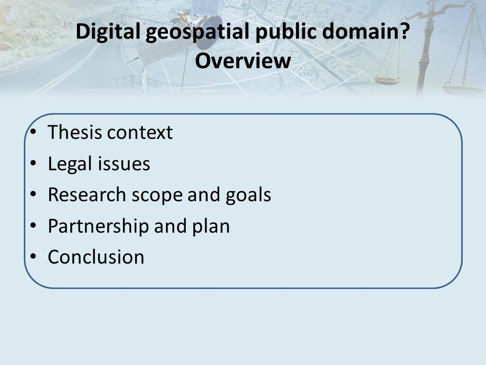 Digital geospatial public domain Overview