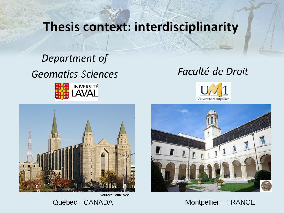 Thesis context: interdisciplinarity