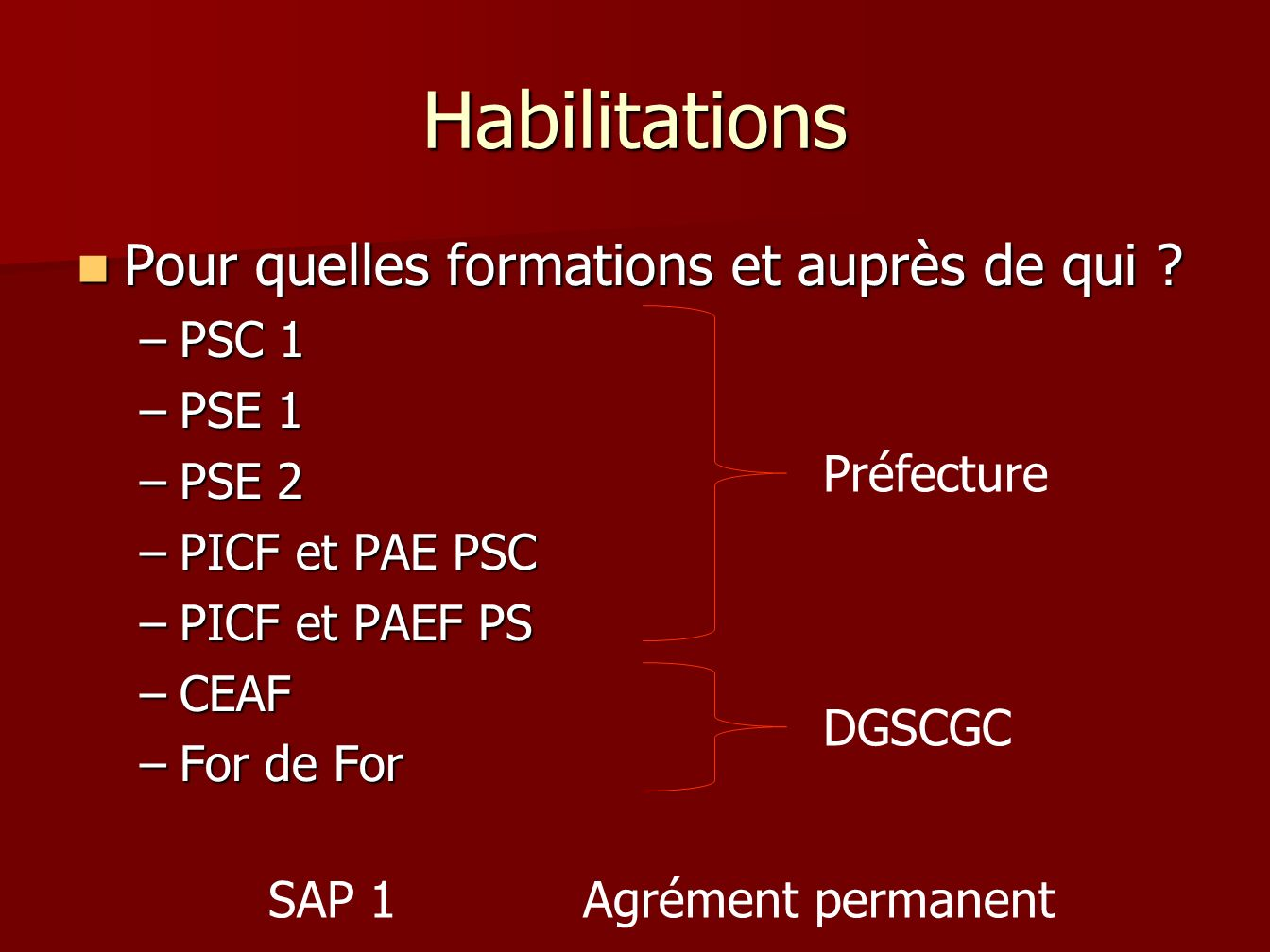 formation picf
