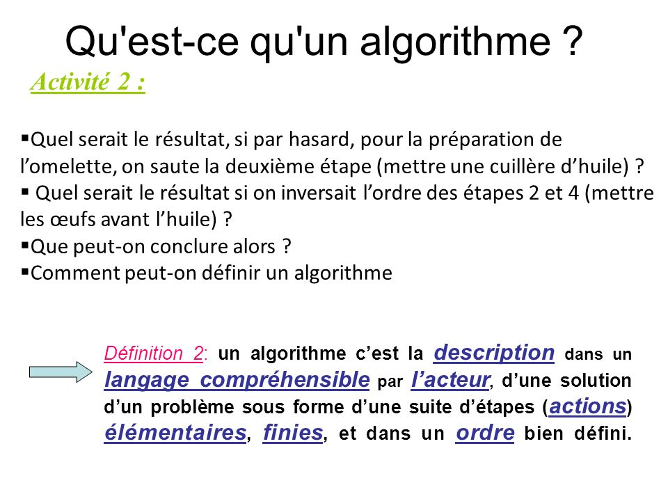 Les Bases De L Algorithmique Ppt Video Online Telecharger