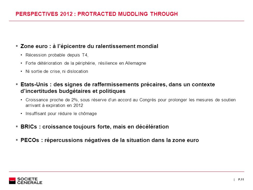 PERSPECTIVES 2012 : PROTRACTED MUDDLING THROUGH
