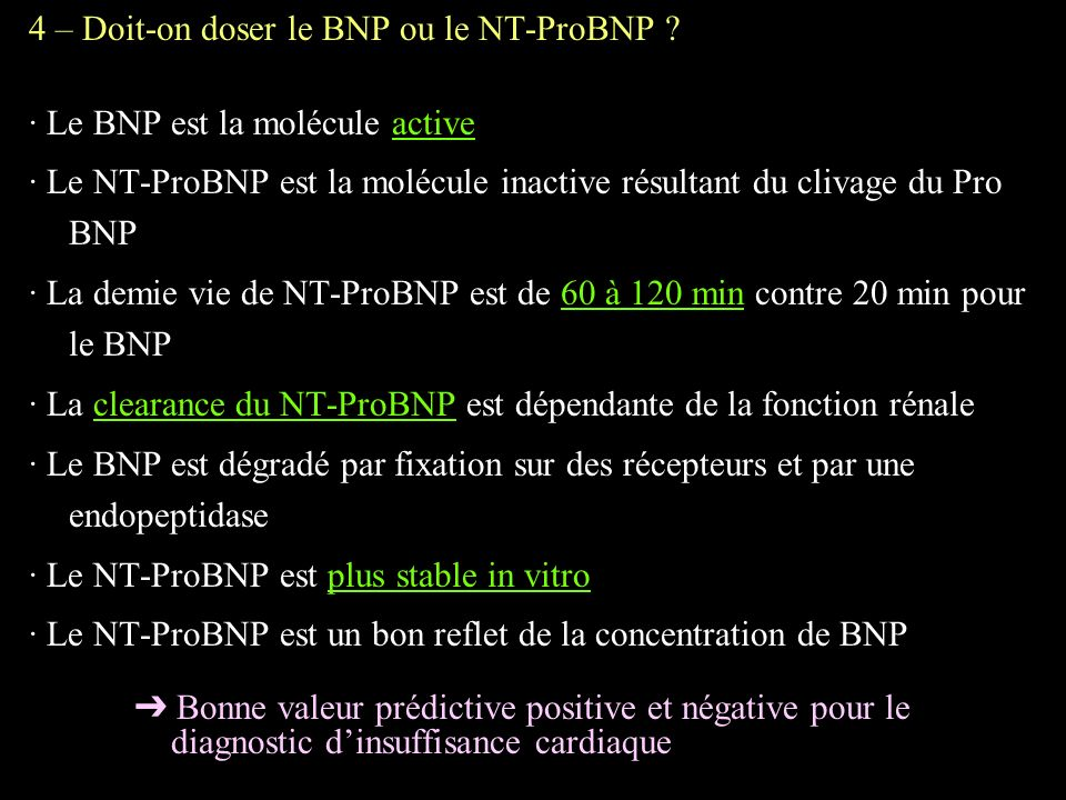 enzymes cardiaques bnp