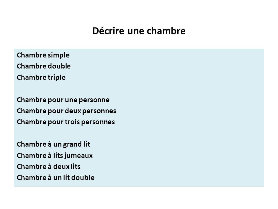 Dialogue: 1 Décrire un hôtel. - ppt télécharger