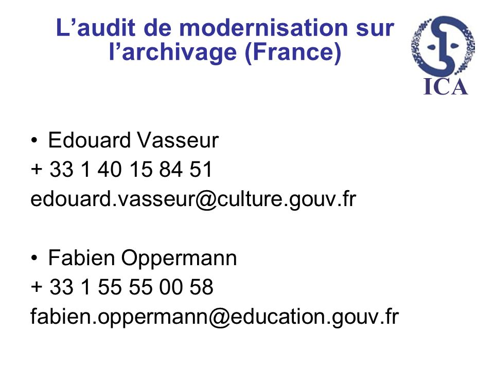 L'audit de modernisation sur l'archivage (France)