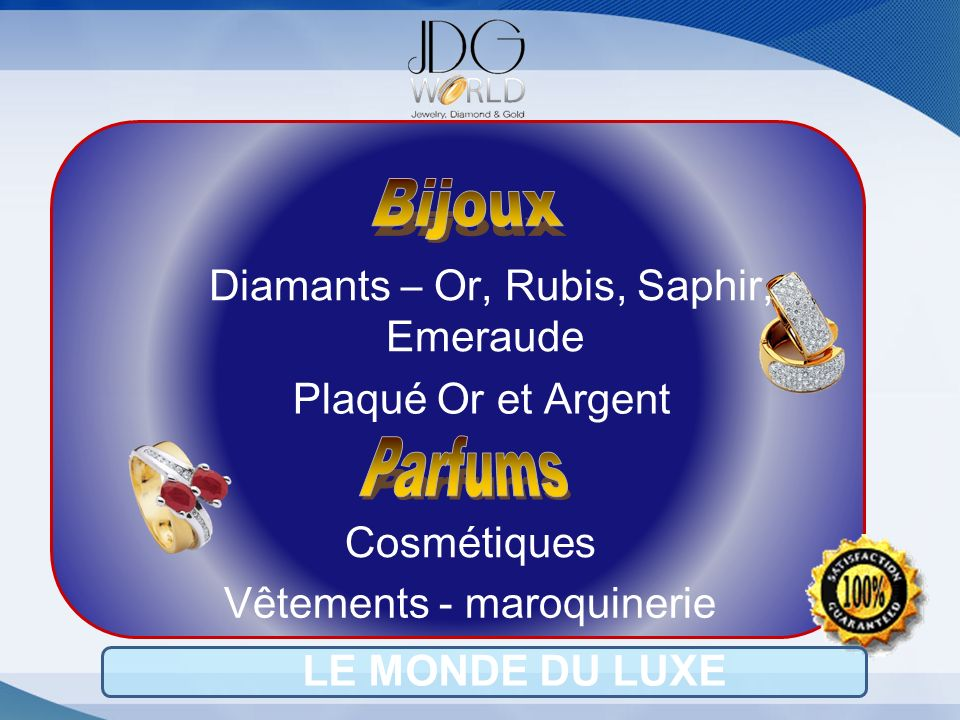Bijoux Parfums Diamants – Or, Rubis, Saphir, Emeraude