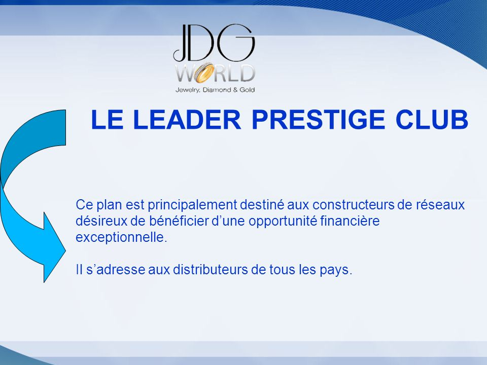 Statut LE LEADER PRESTIGE CLUB