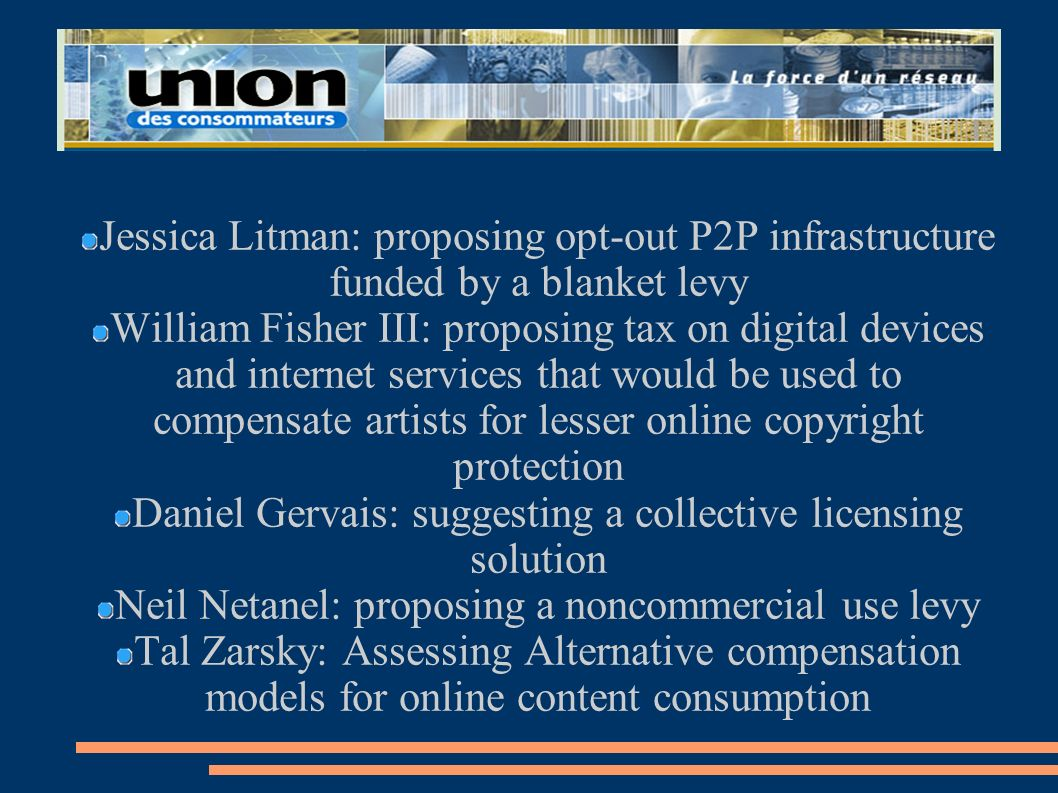 Daniel Gervais: suggesting a collective licensing solution