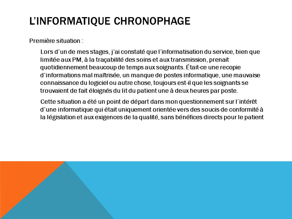 L'Informatique chronophage