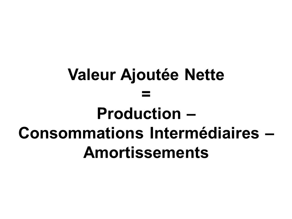 Consommations Intermédiaires –