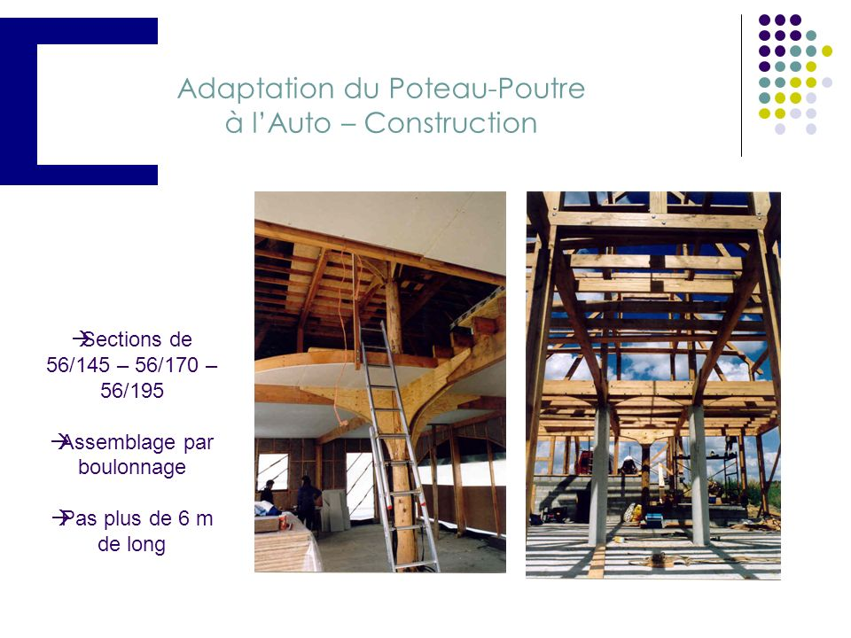 Adaptation du Poteau-Poutre à l'Auto – Construction