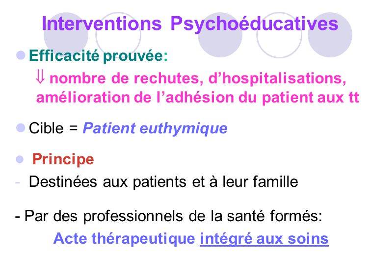 Interventions Psychoéducatives