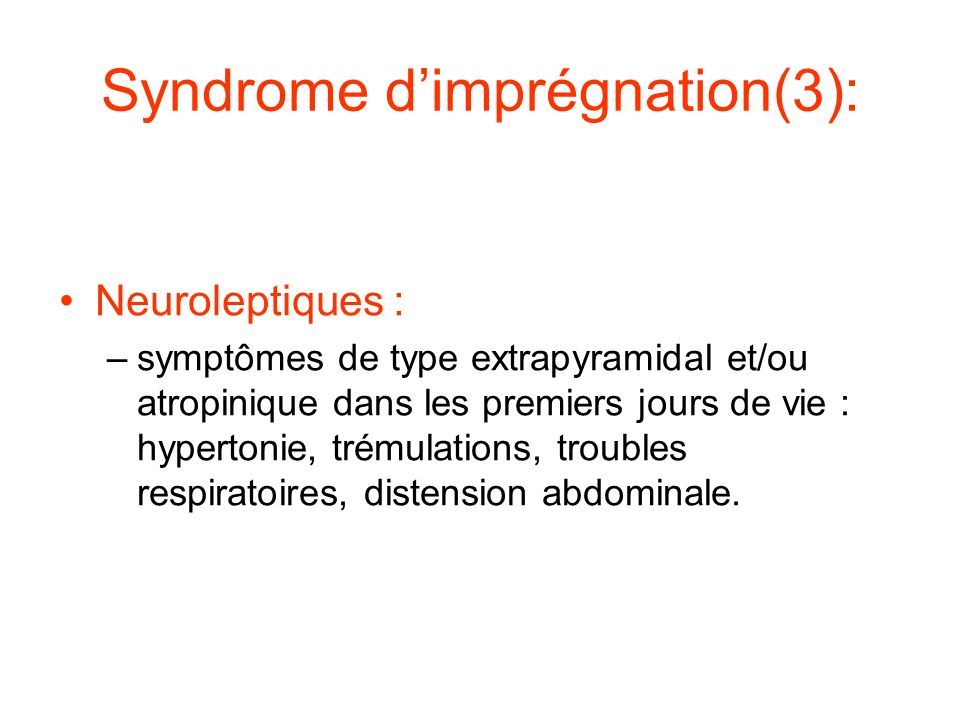 Syndrome d'imprégnation(3):