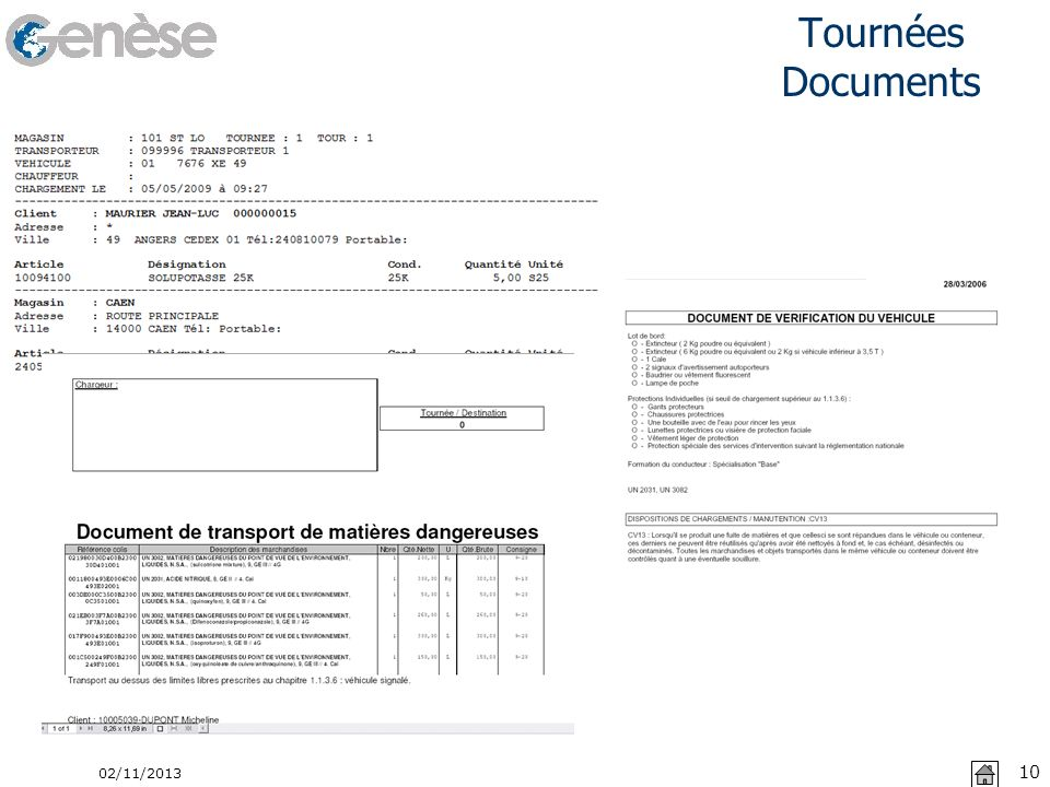 Tournées Documents 22/03/2017