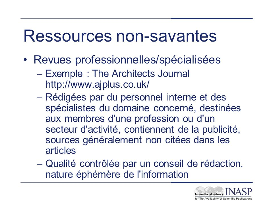 Ressources non-savantes
