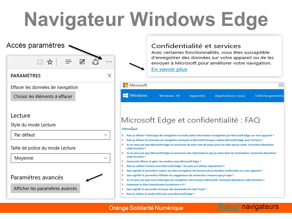 Navigateur Windows Edge