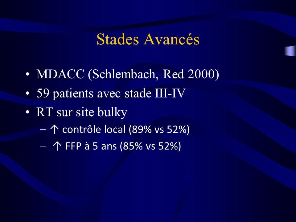Stades Avancés MDACC (Schlembach, Red 2000)