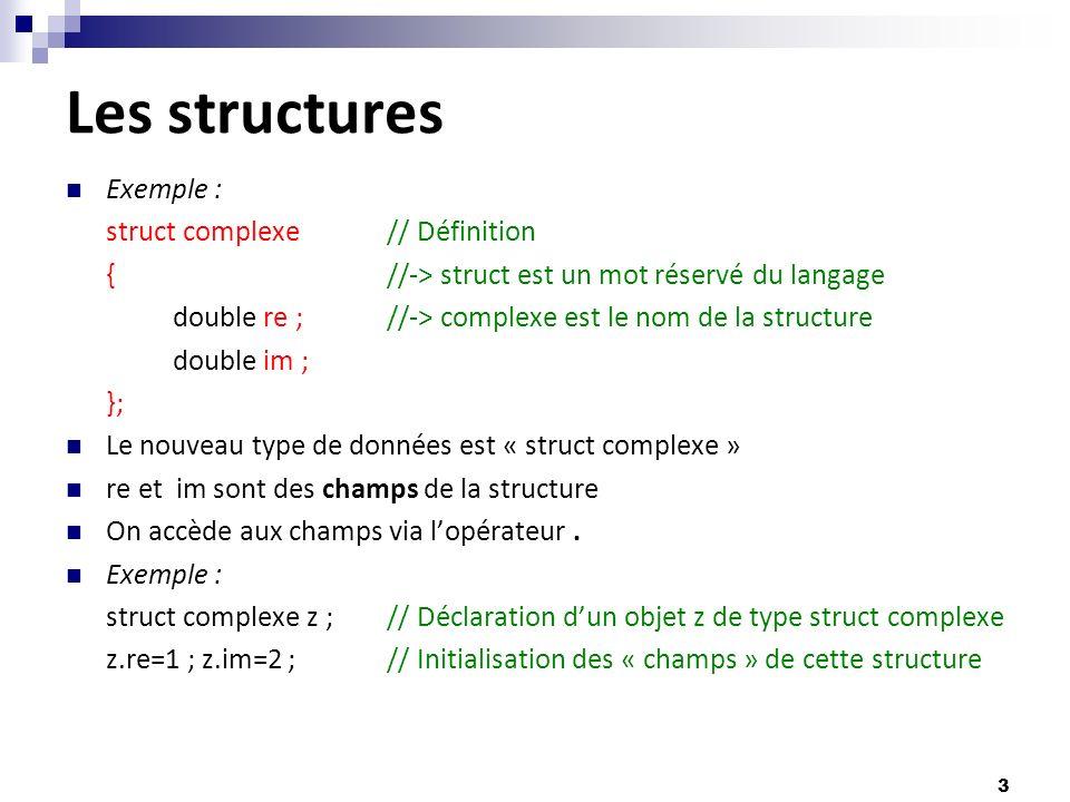 Cours De Langage C Les Structures Ppt Telecharger