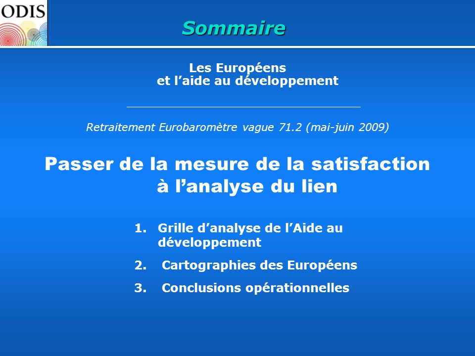 Passer de la mesure de la satisfaction à l'analyse du lien