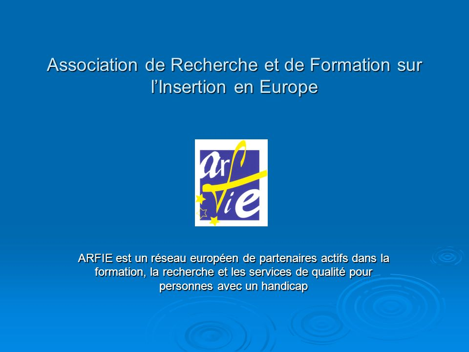 Association de Recherche et de Formation sur l'Insertion en Europe