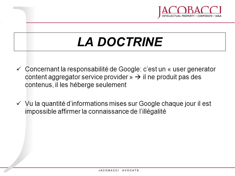 LA DOCTRINE