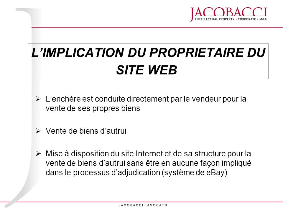 L'IMPLICATION DU PROPRIETAIRE DU SITE WEB