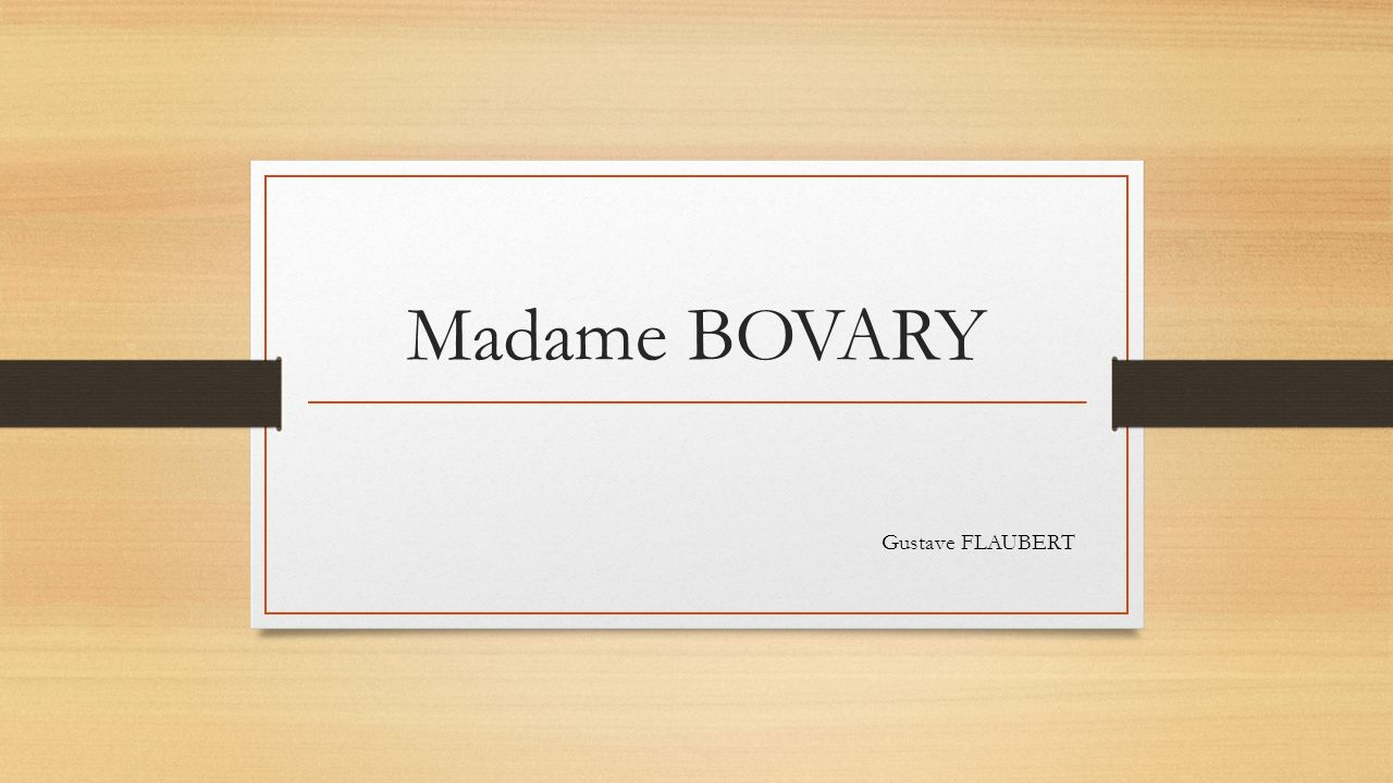 personnages mme bovary