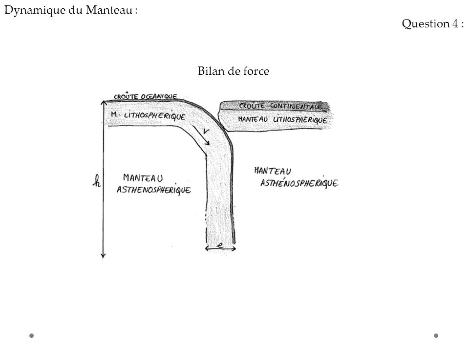 Dynamique du Manteau : Question 4 : Bilan de force