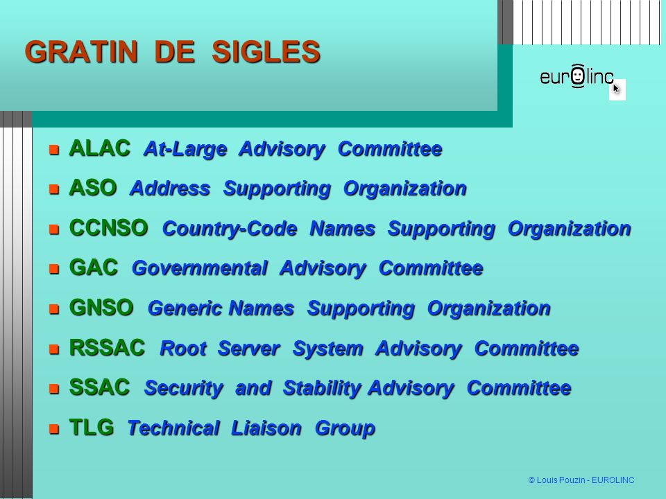 GRATIN DE SIGLES ALAC At-Large Advisory Committee