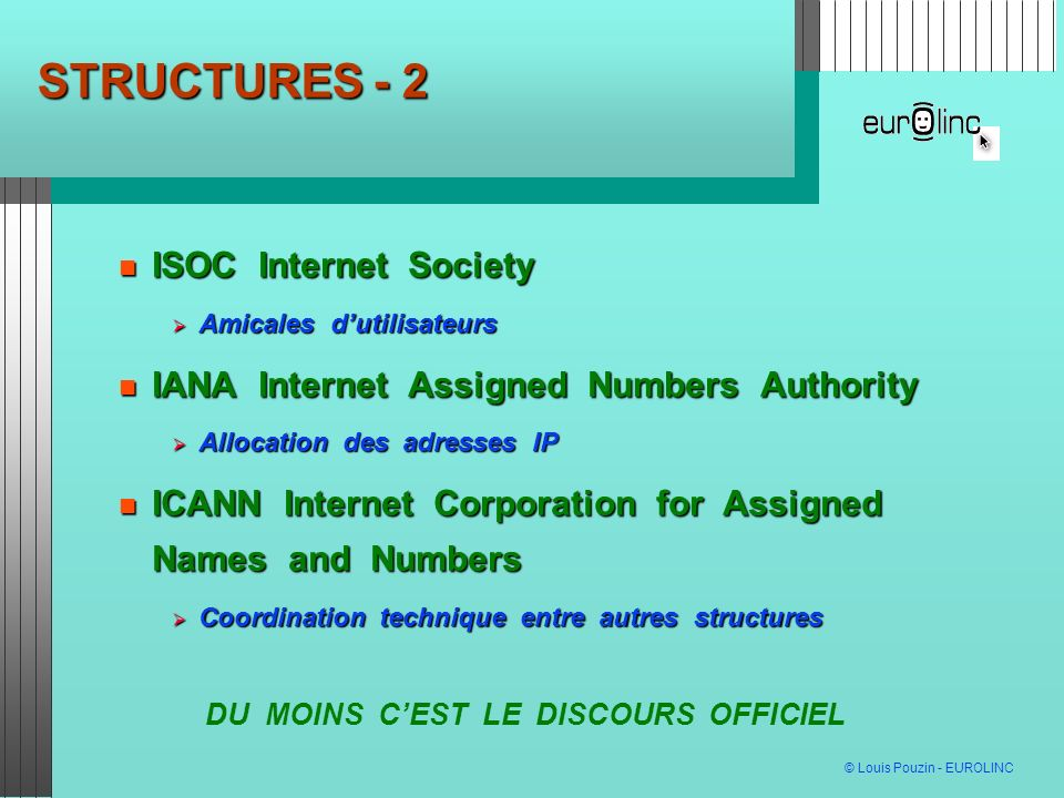 STRUCTURES - 2 ISOC Internet Society