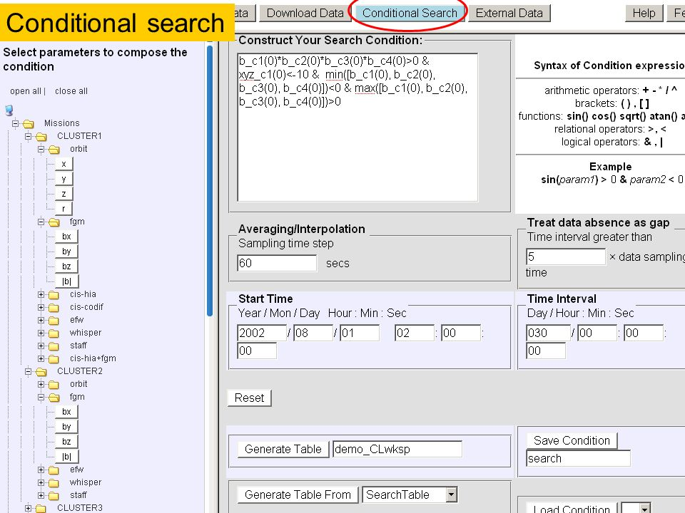 Conditional search