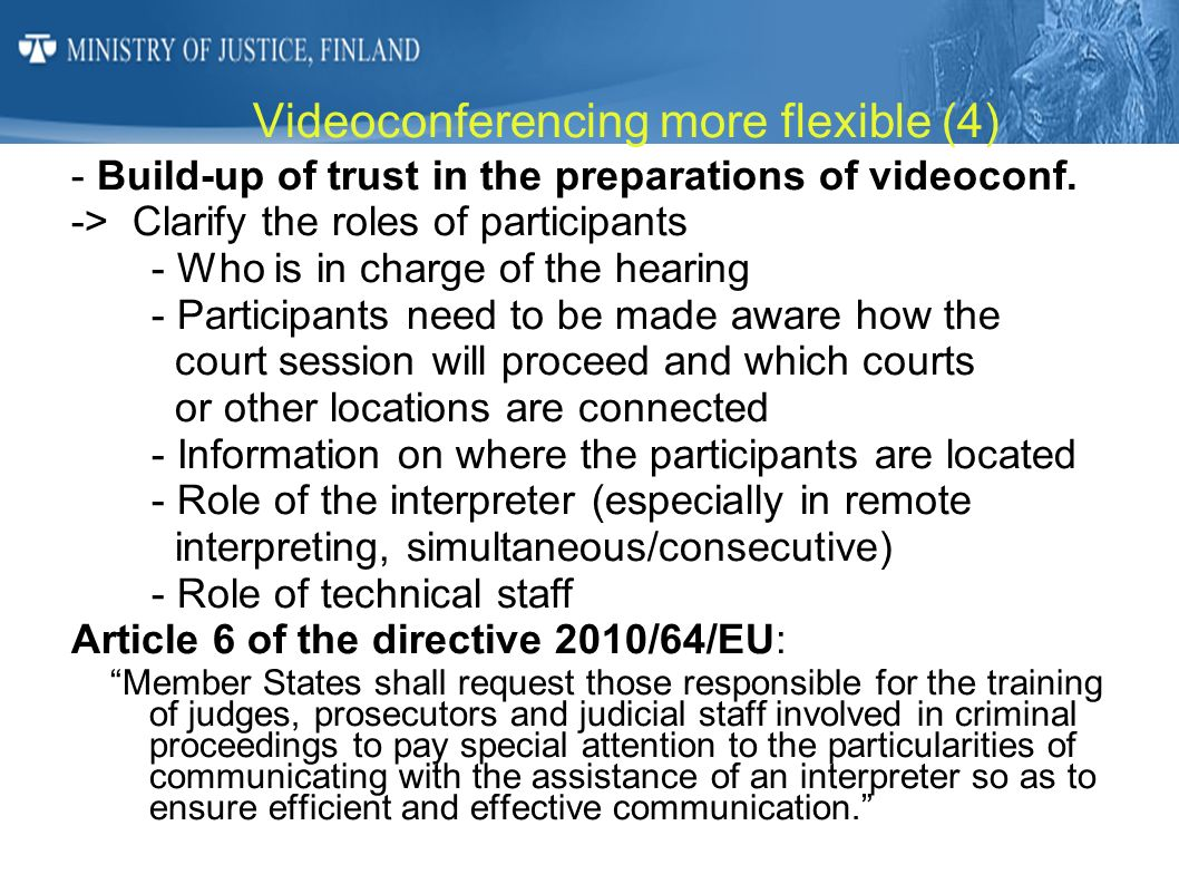 Videoconferencing more flexible (4)