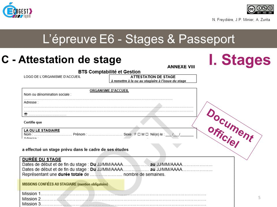 L Epreuve E6 Stages Passeport Ppt Video Online Telecharger