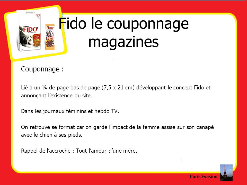 Fido le couponnage magazines